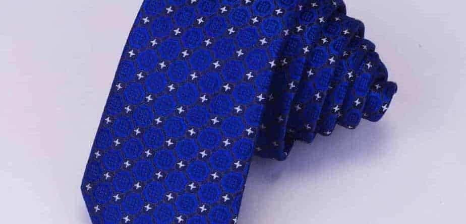 Unikke slips med i silke
