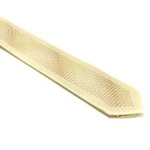 beige slips med silkekant og struktur i midten