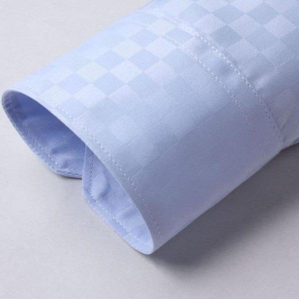 Blå skjorte med tern