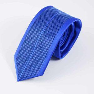 Blåt detaljefyldt slips
