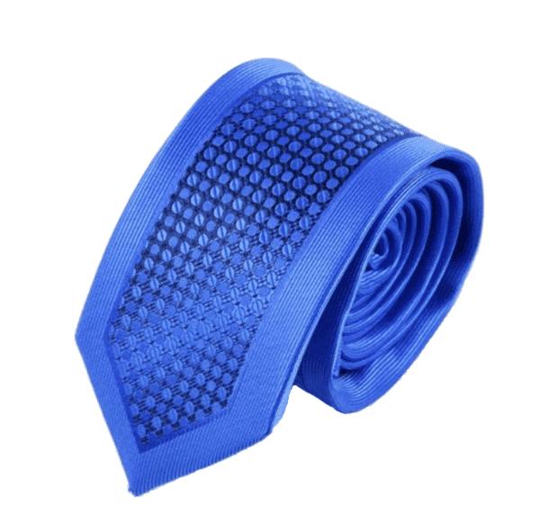 Detajle fyldt slips Blåt
