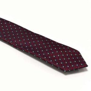 aflangt rød detaljeret slips