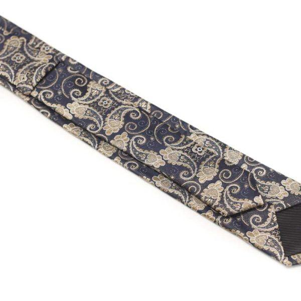Detaljefyldt-slips-brun-med-motiv1