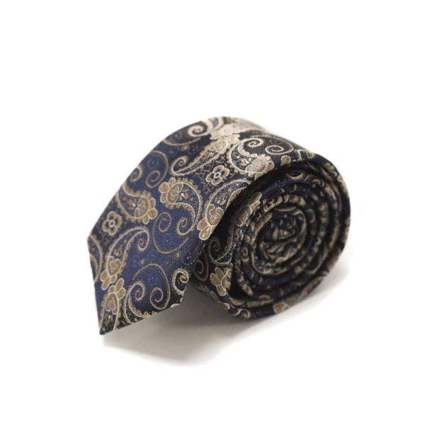Detaljefyldt-slips-brun-med-motiv4