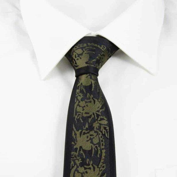 Detaljefyldt slips guld og sølv