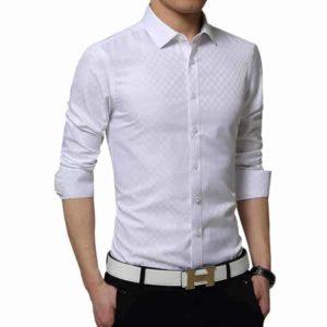 Hvid Skjorte Med Tern