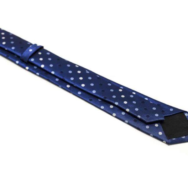 klaasisk blå slips med prikker