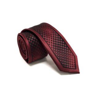 Klaasisk Rødt Slips Med Nuancerende Farver Og Struktur2