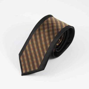 Klassisk brunt stribet slips