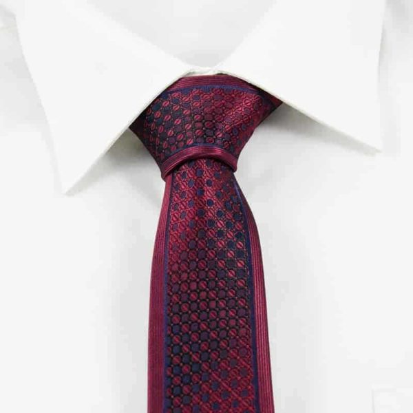 Klassisk rødt blåternet slips ternet