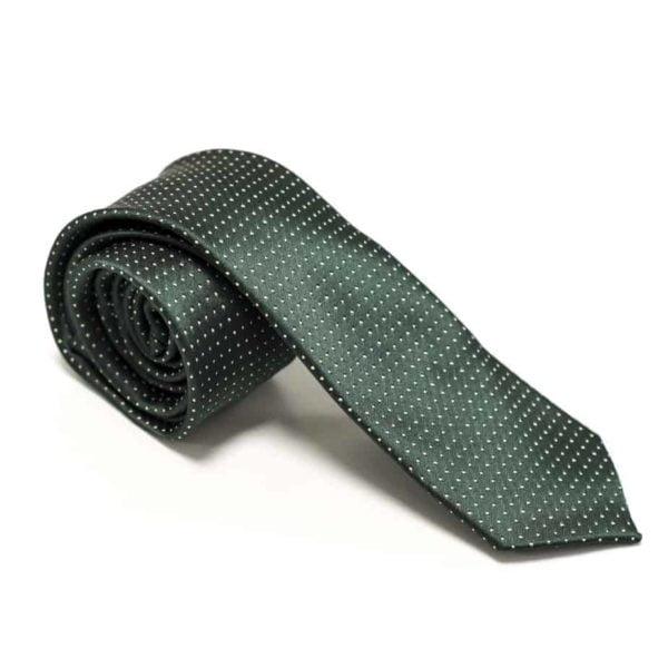 Klassisk-slips-grøn-prikket-1