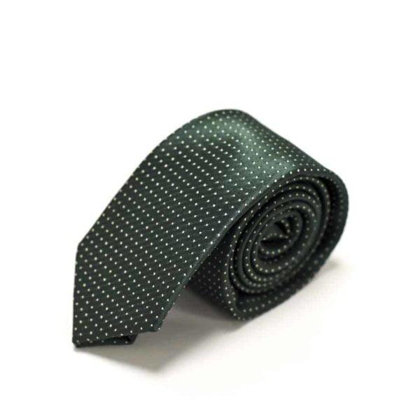 Klassisk-slips-grøn-prikket-2