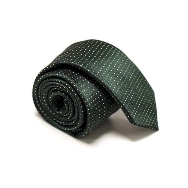 Klassisk-slips-grøn-prikket1