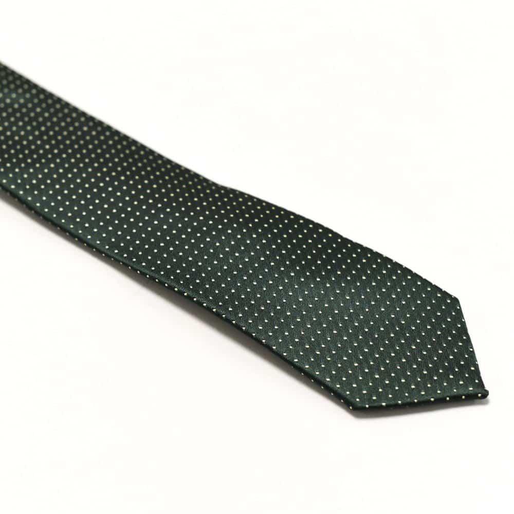 Klassisk Slips Grøn Prikket2
