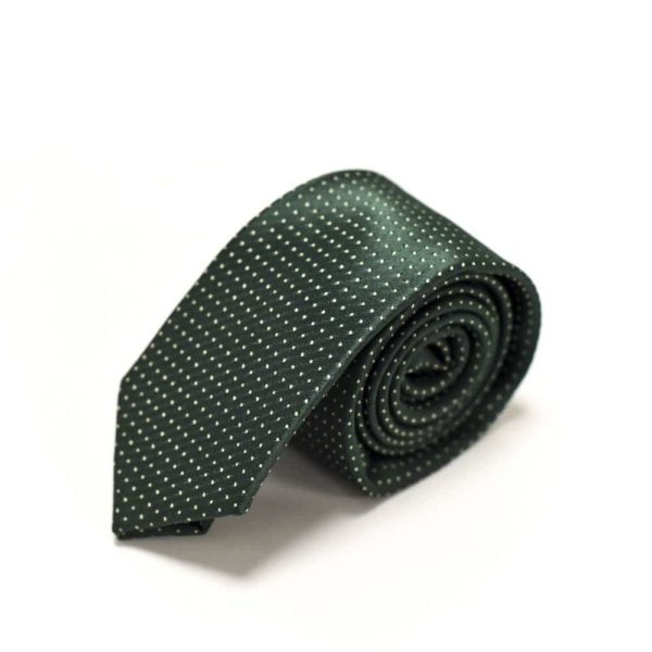 Klassisk-slips-grøn-prikket3