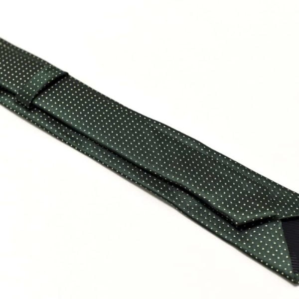 Klassisk-slips-grøn-prikket4