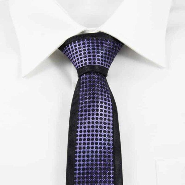 Klassisk slips lilla og sort
