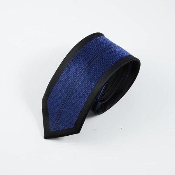Klassisk slips sort og blå