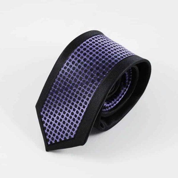 Klassisk slips sort og lilla