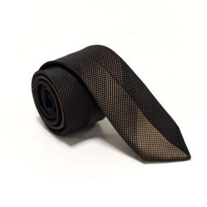 klassisk sort gyldent slips med struktur