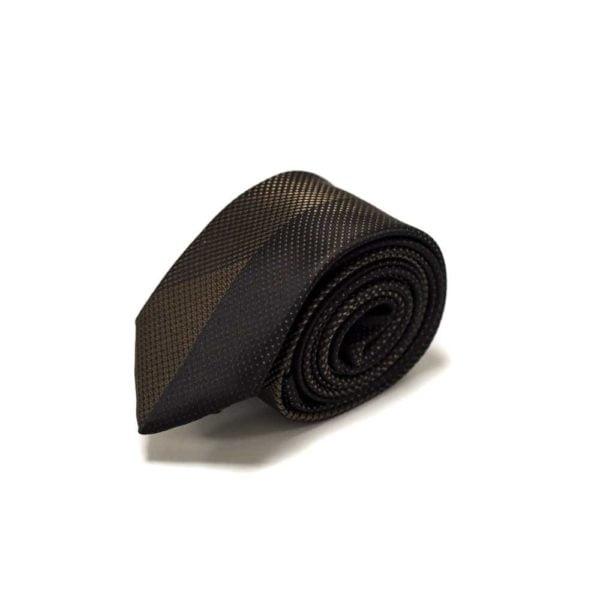 Klassisk-sort-gyldent-slips-med-struktur4