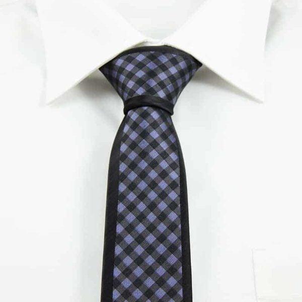 Klassisk ternet slips sort og sølv