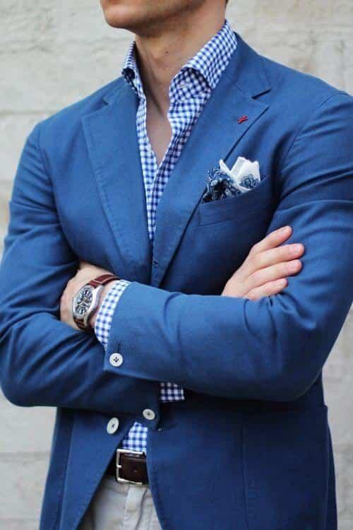 Lommeklud jakkesæt med lommeklud og slips 1