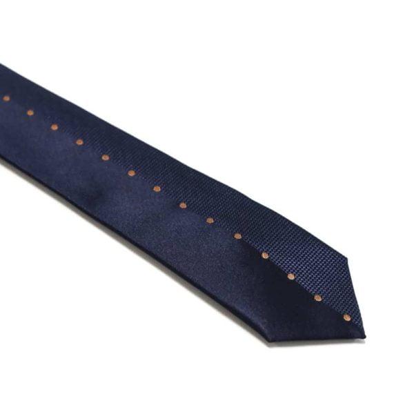 Marineblå-slips-med-bronze-prikker-langs-midten1