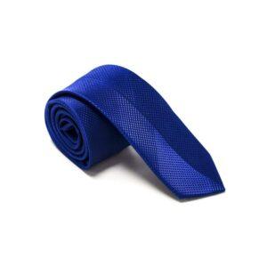 Moderne Royal Blå Slips Med Struktur3