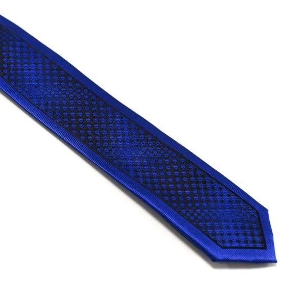 Moderne-royalblå-slips-med-flot-struktur1