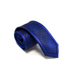 Moderne Royalblå Slips Med Flot Struktur3