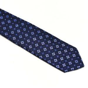 moderne slips blåt mønster