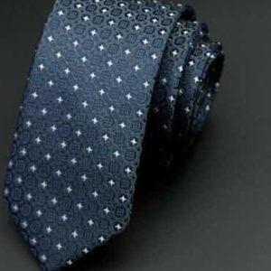 Moderne sort slips med mønster sort