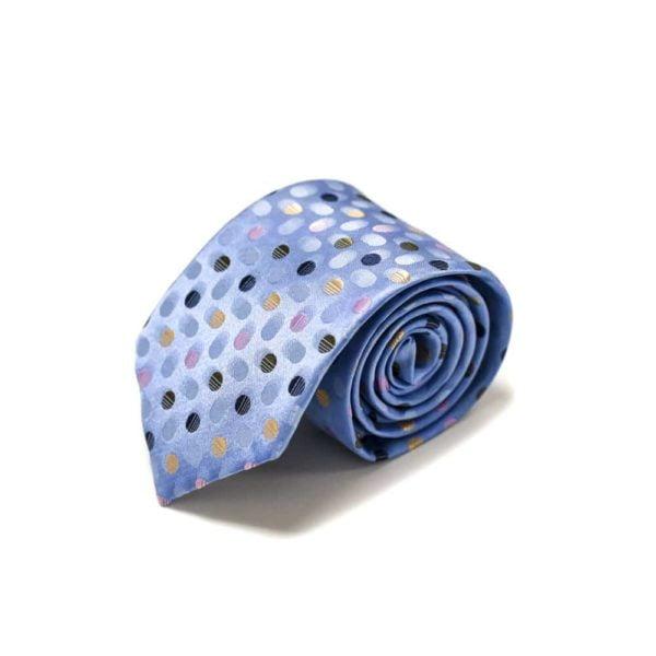 Prikket-lyseblåt-slips-med-prikker-i-forskellige-farver4