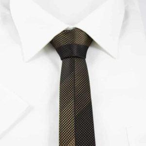 Prikket slips sort og guld