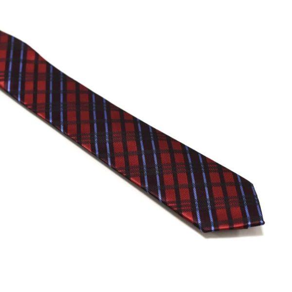 Rødt Slips Med Skotske Tern1