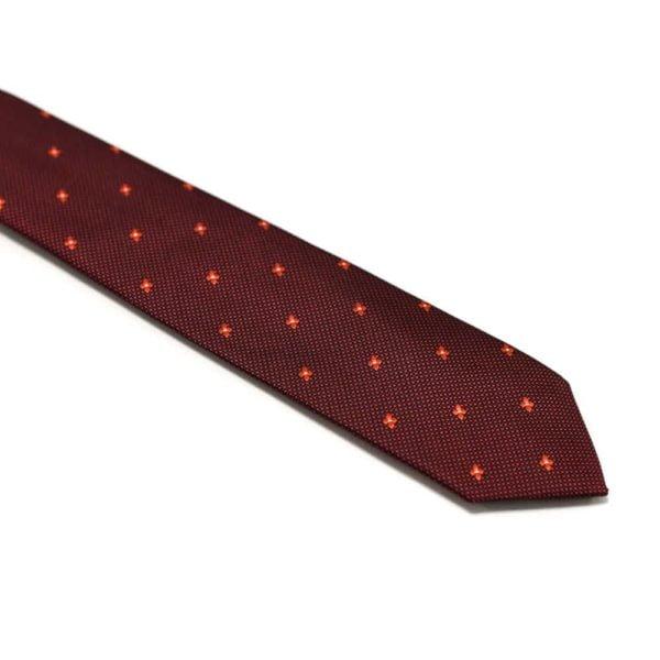 Rødt-slips-med-små-stjerne-prikker1
