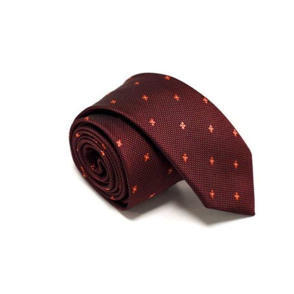 rødt slips med små stjerne prikker