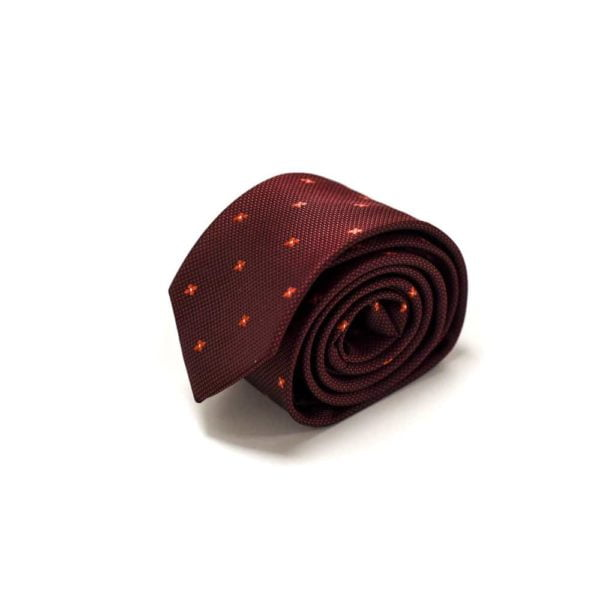 Rødt-slips-med-små-stjerne-prikker4