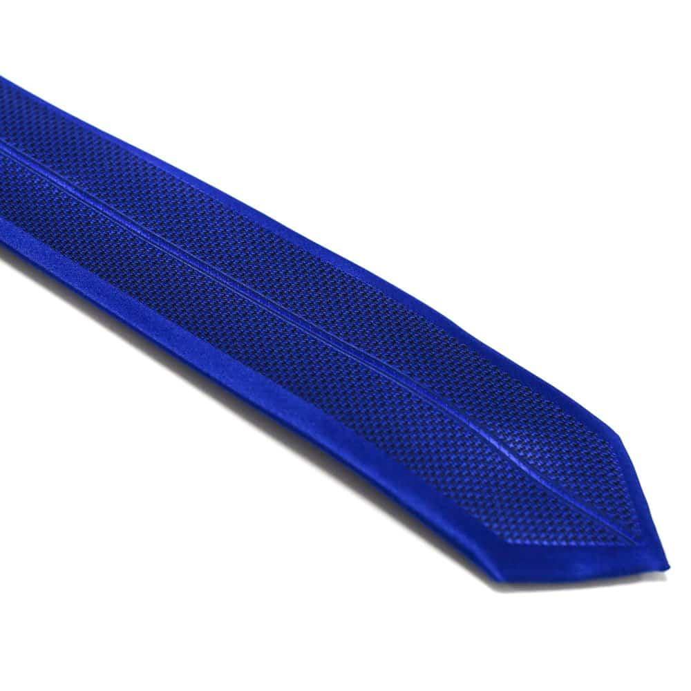 Royal Blå Slips Med Symetrisk Struktur1