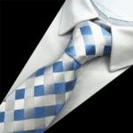Sølv-og-blå-slips