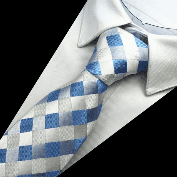 Sølv Og Blå Slips