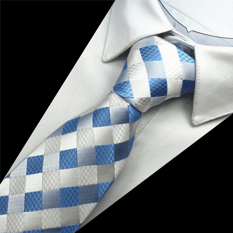Ternet slips  -  hvid og blå