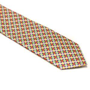 slips med farvede polkaprikker klovne farver
