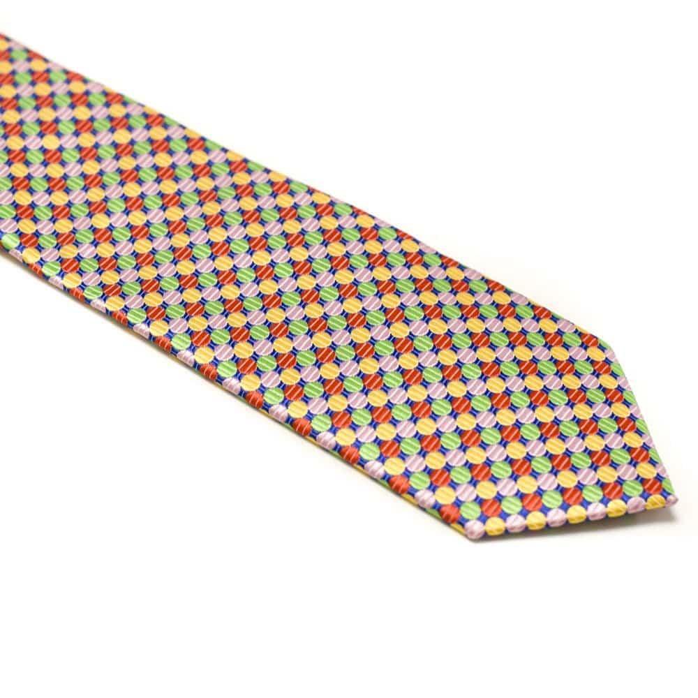 Slips Med Farvede Polkaprikker Klovne Farver1 1
