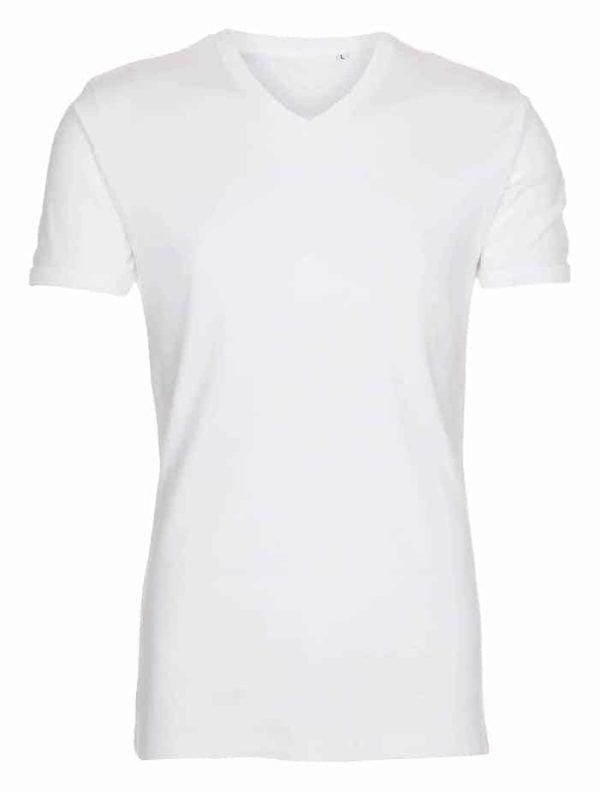 T-shirt-classic-v-neck-hvid