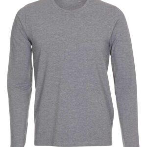 T-shirt-langærmet-stretch-tee-grå