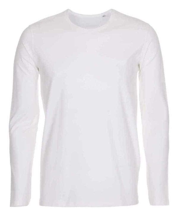 T-shirt-langærmet-stretch-tee-hvid