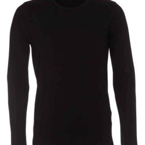 T-shirt-langærmet-stretch-tee-sort