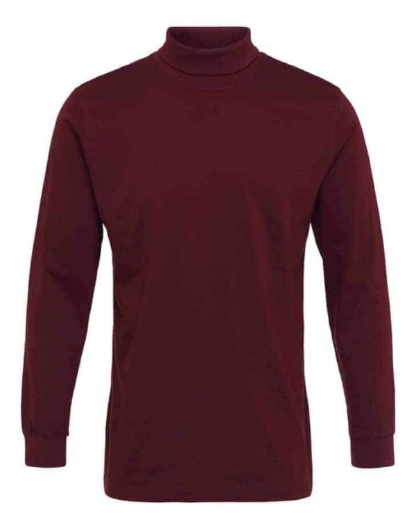 T Shirt Langærmet turtle neck tee Burgundy